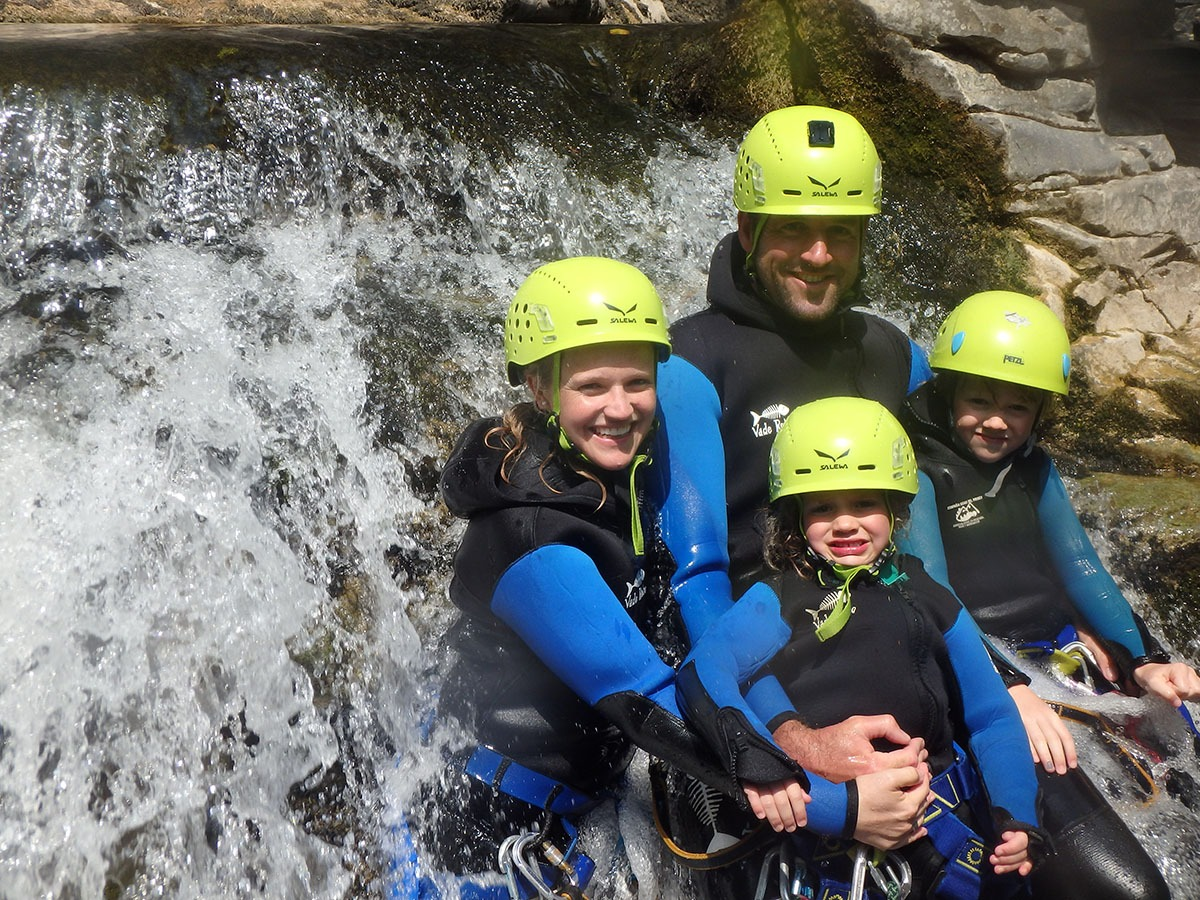 Canyoning in Viandico Family