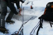 bautismo escalada en hielo