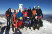 Gipfel Aneto im Winter geführt