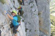 Ferrata Foradada del Toscar guiada los pirineos