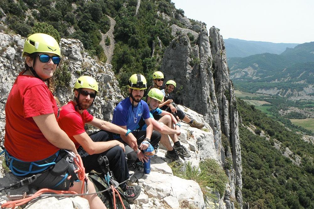 Via Ferrata Foradada del Toscar die Pyrenäen