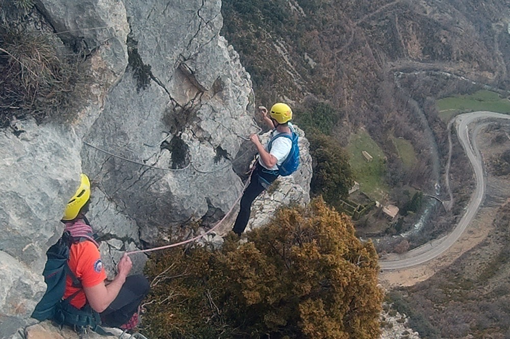 via ferrata high level croquette from obarra