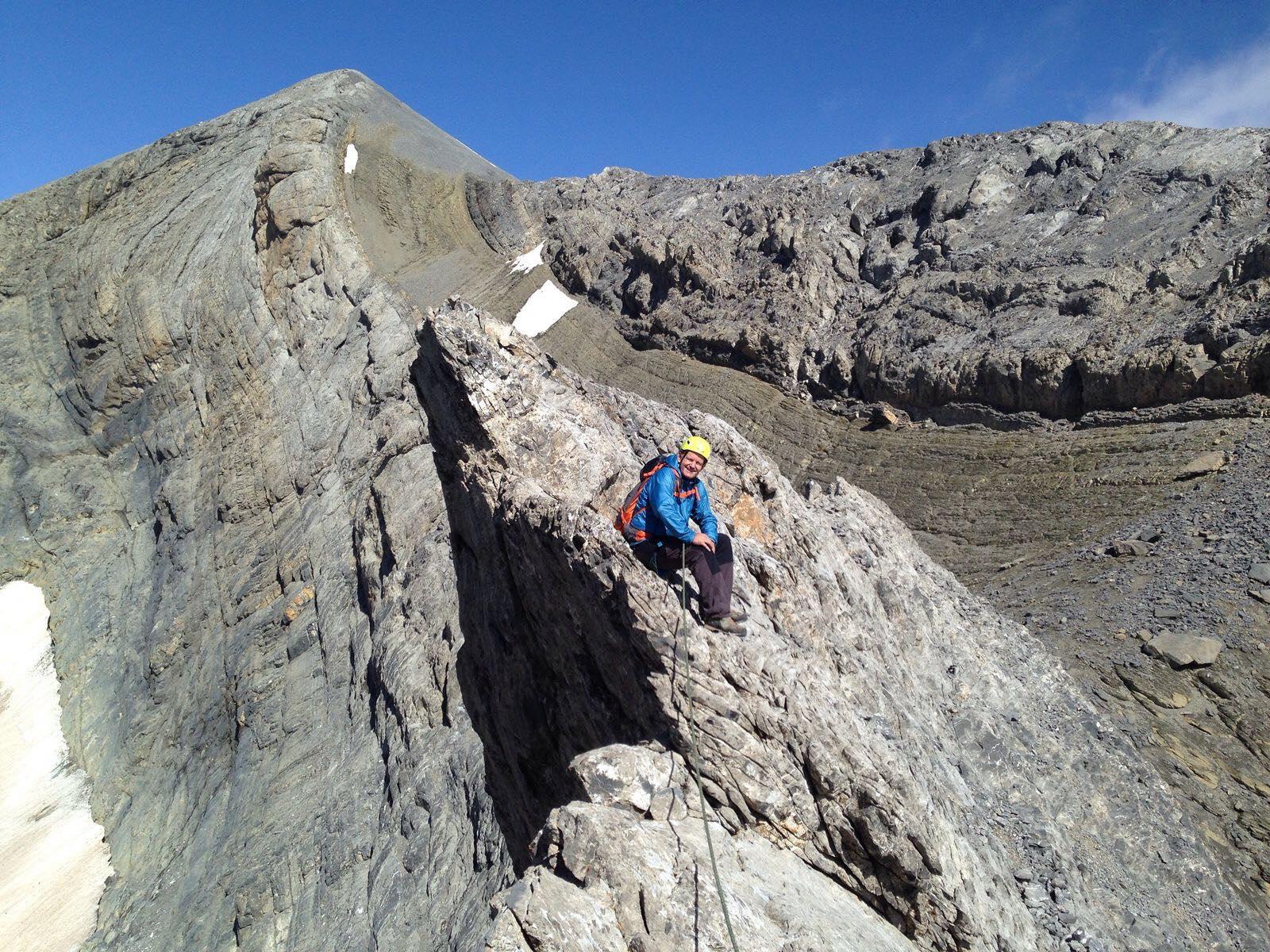 escalada con guía en los pirineos