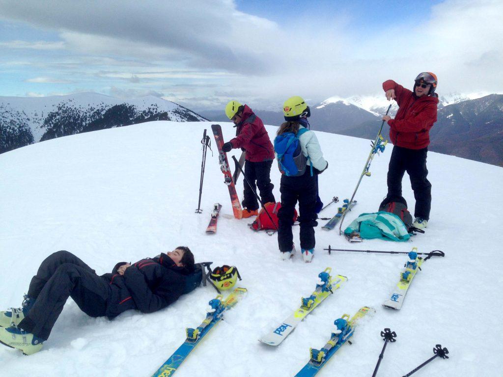 curso esquí de montaña en el puente de la Inmaculada