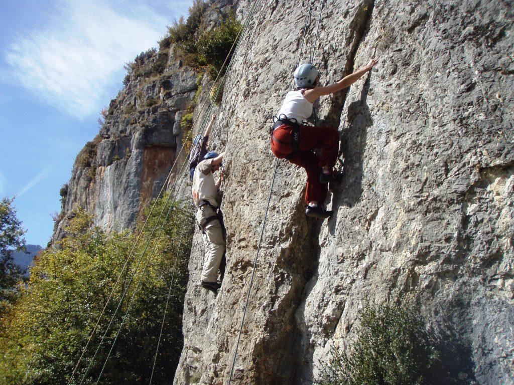 Curso de iniciación escalada en roca